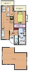 サウスウイング[2階]の間取り