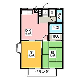 ピュアハーツ93[1階]の間取り