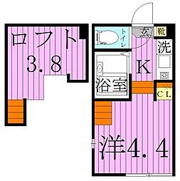栄[1階]の間取り