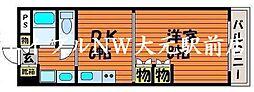 岡山県岡山市北区南方2丁目の賃貸マンションの間取り