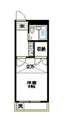 戸塚レ・フレール[2階]の間取り
