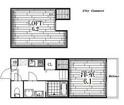 K Flat[2階]の間取り