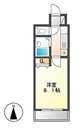 CASTLE ワタナベ[3階]の間取り