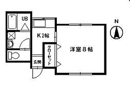 シャトーシマダII[202号室]の間取り