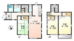[一戸建] 兵庫県神戸市西区水谷2丁目 の賃貸【兵庫県/神戸市西区】の間取り