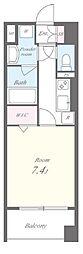 東京メトロ日比谷線 八丁堀駅 徒歩10分の賃貸マンション 5階1Kの間取り