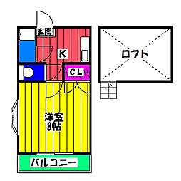 パンシオン・ヴィラ・カトレア[2階]の間取り