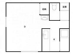 プライムハウス21[1階]の間取り