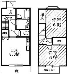 [テラスハウス] 神奈川県川崎市宮前区菅生6丁目 の賃貸【/】の間取り