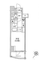 東京メトロ日比谷線 三ノ輪駅 徒歩5分の賃貸マンション 2階1Kの間取り