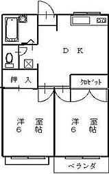 メゾン・ファミーユ[2階]の間取り