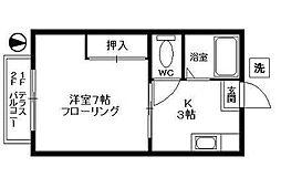 イワマハイツ[2階]の間取り
