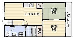 サンモールフカイ[3階]の間取り