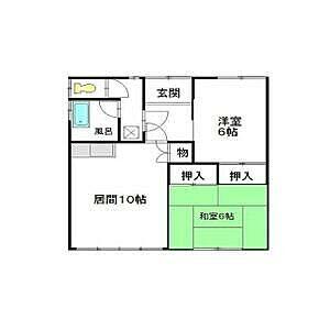 間取り,2DK,面積52.8m2,賃料3.5万円,,,北海道釧路市愛国西2丁目8-9