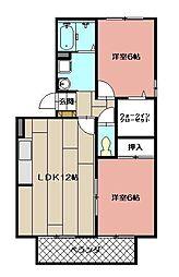 グランドソレーユ赤坂[2階]の間取り