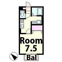 パリオ菅沼B棟[2階]の間取り