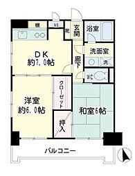 神奈川県横浜市神奈川区西寺尾4丁目の賃貸マンションの間取り