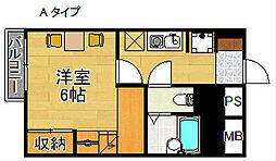 レオパレスPista A棟[1階]の間取り