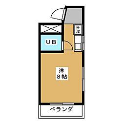 浅井コーポII[3階]の間取り