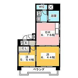 昴スケミツ[7階]の間取り