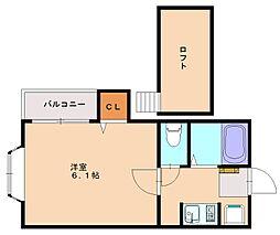 ピュア大橋弐番館[2階]の間取り