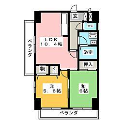 クレスト福江248[5階]の間取り