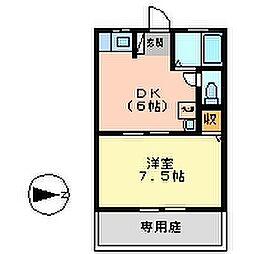 愛日ハイツ中島田A[103号室号室]の間取り