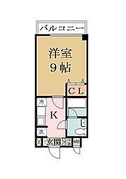 バウハウス[3階]の間取り