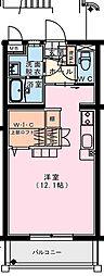 (仮称)出北・3丁目佐藤マンション 1階ワンルームの間取り
