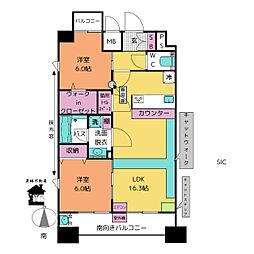 Chatmour(シャムール)[9階]の間取り