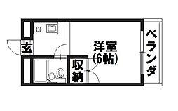 福井マンション[302号室]の間取り