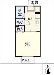 上浜ロートス[1階]の間取り