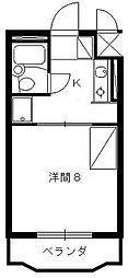 静岡県浜松市中区住吉1の賃貸マンションの間取り