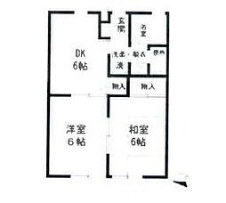 サン・ドミールC棟[1階]の間取り