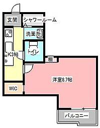 中沢メルド25[2階]の間取り