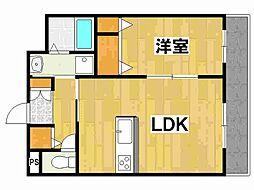 兵庫県姫路市苫編南2丁目の賃貸アパートの間取り