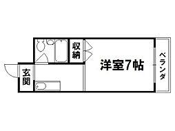 シャンブル伊川[1階]の間取り