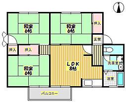 メゾンソシアルA棟[2階]の間取り