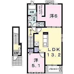 レジデンス タカハシII[0203号室]の間取り