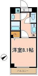 ブリリアント大木[3階]の間取り