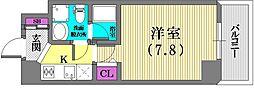 シャルマンパレ神戸花隈[4階]の間取り