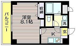 東京都調布市菊野台2の賃貸マンションの間取り