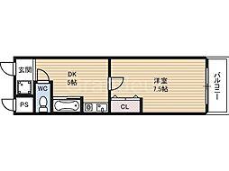 エリセラ門真南[2階]の間取り