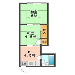 東京都江戸川区南小岩5丁目の賃貸アパートの間取り