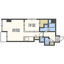 北海道札幌市中央区南二条東5丁目の賃貸マンションの間取り