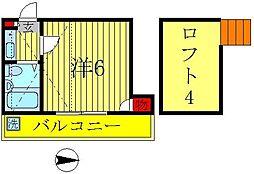 MIDORI1(ミドリ)[2階]の間取り