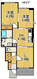 サニーパークIII[1階]の間取り