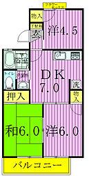 ストークタウンA・B[B202号室]の間取り