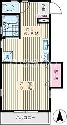 6043−ハプナ[202号室]の間取り