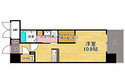 アソシアグロッツォ・クアトロ博多[5階]の間取り